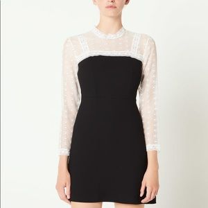 NWT Sandro Dress with Lace inset
